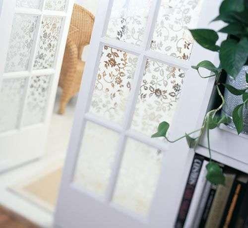 Decorative glass film